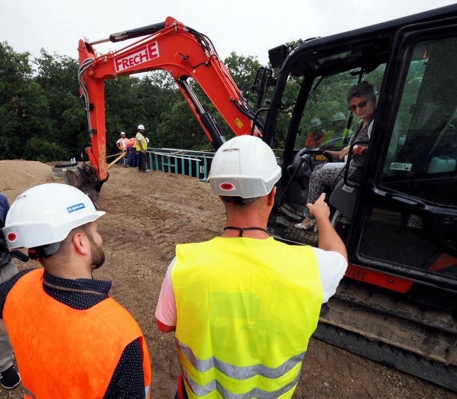 Le chantier du parking des Bâchettes à Biot.