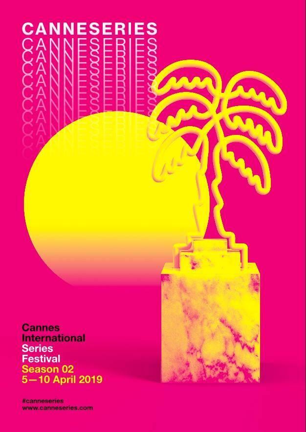 L'affiche de la seconde édition du festival CanneSeries.