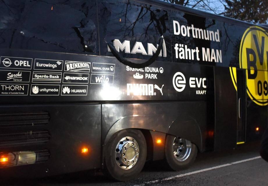 Le bus du Borussia Dortmund.
