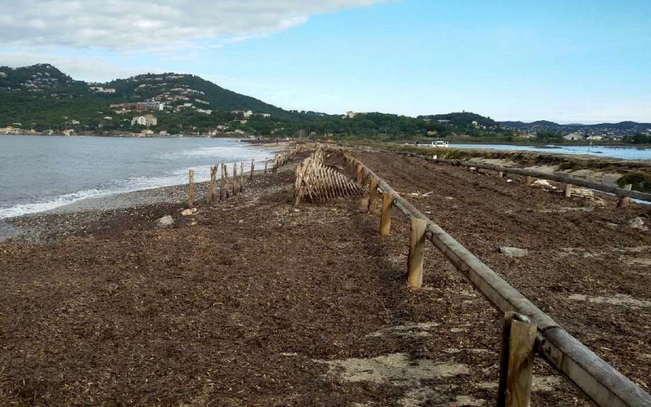 La tempête du 30 octobre a considérablement dégradé la route du sel.