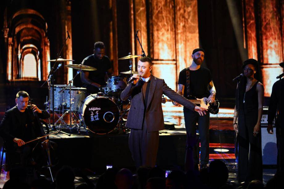 Sam Smith aux NRJ Music Awards 2017.