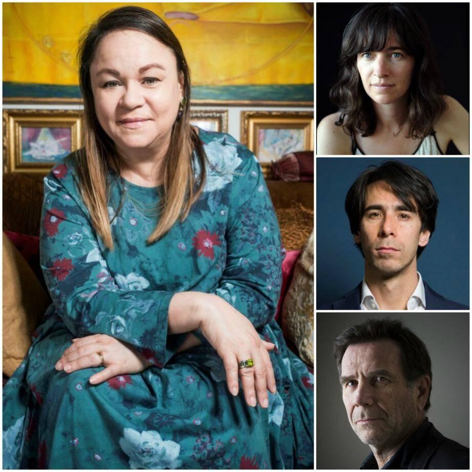 Zoé Valdés est la présidente de la 21e Fête du livre. A ses côtés, les auteurs invités Valérie Manteau, Paul Greveillac et Christian Oster (à droite, de haut en bas).