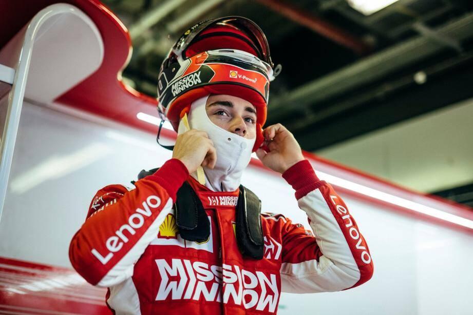 Charles Leclerc: sitôt en piste, sitôt en tête!