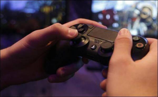 Illustration console de jeux vidéo.