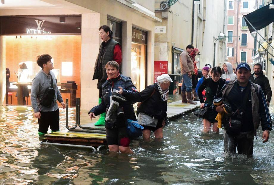 Venise, les pieds dans l'eau.