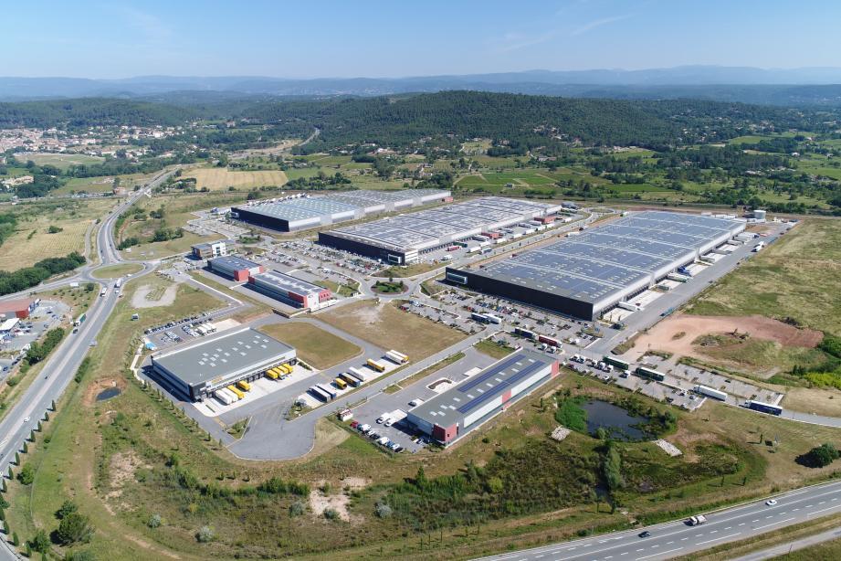 Le parc d'activité des Bréguières où Barjane vient de débuter la construction de la nouvelle plateforme Colissimo de La Poste.