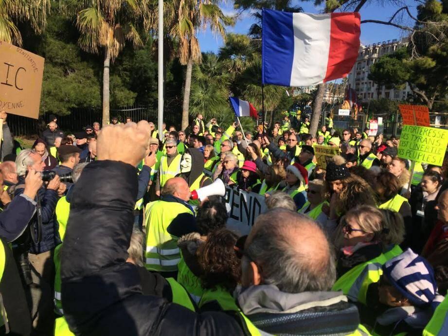Illustration Gilets jaunes à Nice, ici le samedi 15 décembre.