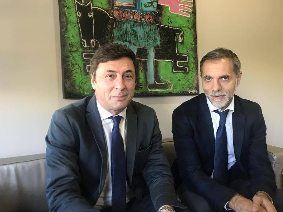 Pierre Grand-Dufay et son associé Stéphane Assuied : « Tertium Croissance  regarde Nice de beaucoup plus près que Tertium I n'avait pu le faire. »(DR)