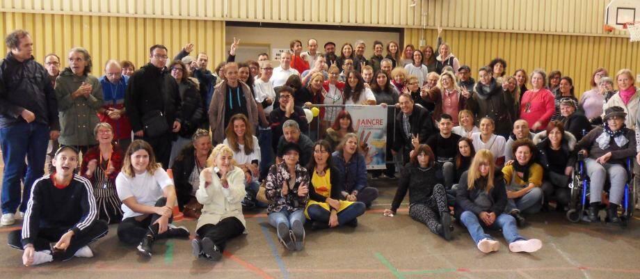 Réunis au gymnase de la Roseraie pour aider le Téléthon, les amis de l'association Espérance Var ont relevé les défis lancés par leurs animateurs.