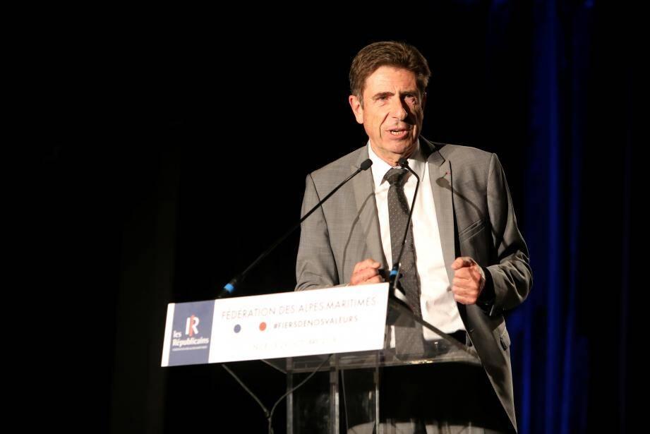Charles-Ange Ginésy, président du Département des Alpes-Maritimes.
