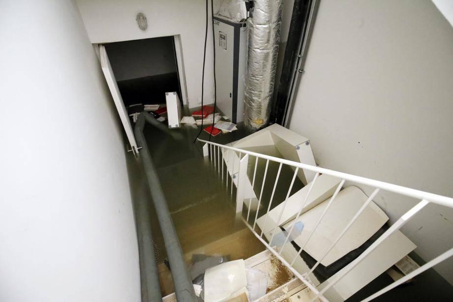 Le sous-sol du musée s'est retrouvé avec 1 m 50 d'eau.