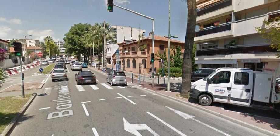 L'accident s'est déroulé au 97 du boulevard Sadi-Carnot au Cannet.