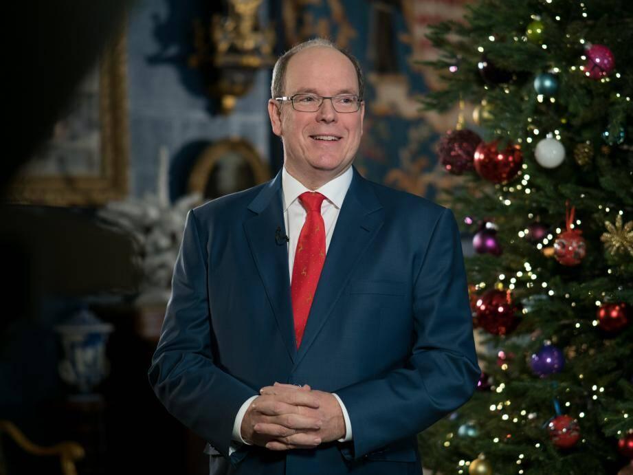 Le message télévisé des vœux a été enregistré dans les salons du Palais princier.