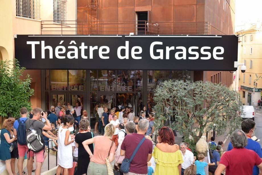 Le théâtre de Grasse en septembre 2018, lors de sa réouverture après travaux.
