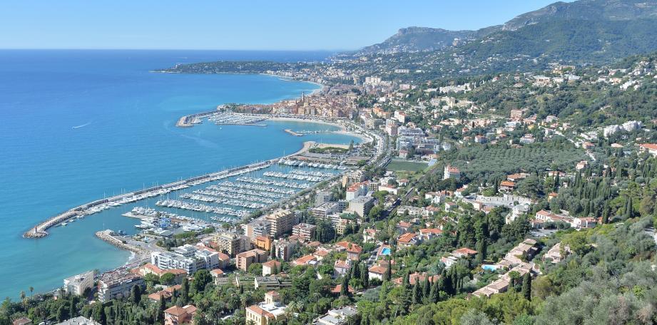 Menton, capitale de la Riviera française.
