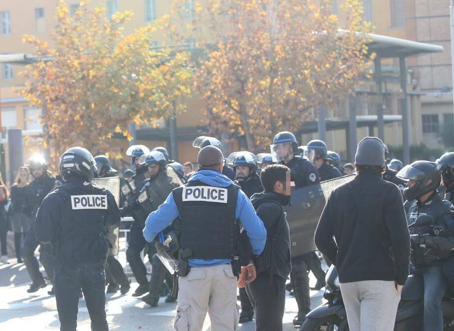 La manif du 6 décembre avait dégénéré devant le lycée du Parc Impérial.