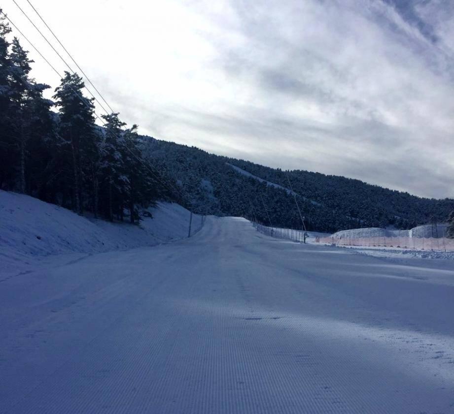 5cm de neige sont tombés dans la nuit de mercredi à jeudi.