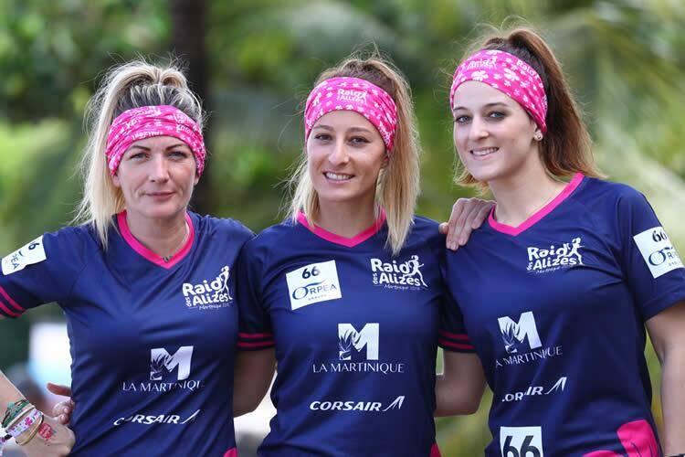 De gauche à droite: Manuella, Cécilia et Alexia.