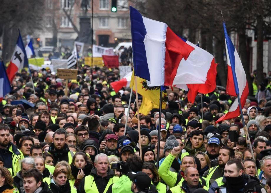 Gilets jaunes à Lille ce 12 janvier