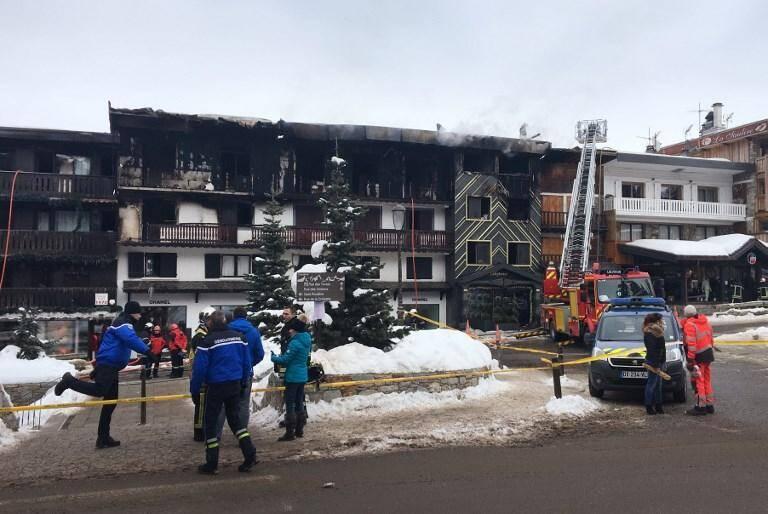 L'impressionnant incendie a fait deux morts à Courchevel.