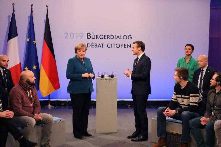 Angela Merkel et Emmanuel Macron ce mardi.