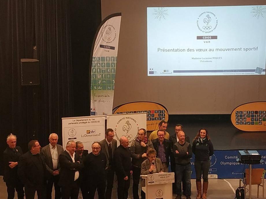 Lucienne Roques, présidente du comité départemental olympique et sportif, a présenté les vœux de la structure, accompagnée d'élus locaux et représentants de l'entité dans les nombreuses villes du Var.