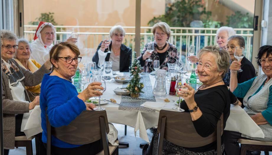 Les seniors ont été choyés pour le repas de Noël.