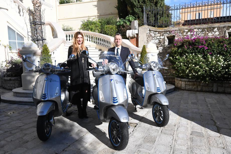 Trois nouveaux scooters électriques à la mairie de Monaco.(DR)