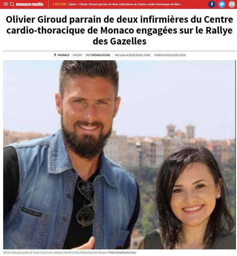 Olivier Giroud en tête du classement.