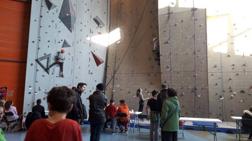 Les 86 concurrents au challenge départemental d'escalade jeunes se sont affrontés hier.