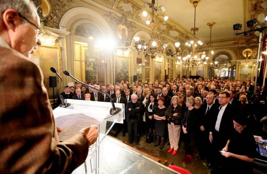 Salle comble pour les vœux de Gérard Cerutti, président de l'UPV du Var.