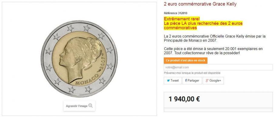 À l'effigie de Grace Kelly, elle est proposée 1 940 euros sur des sites spécialisés.(Capture écran / arthurmaury.fr)