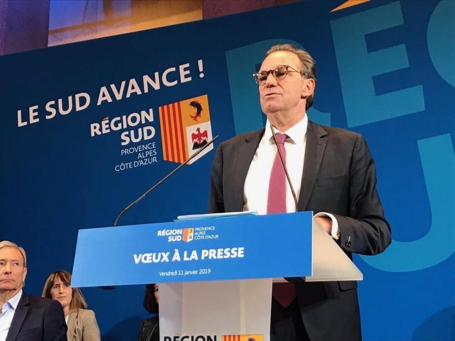Renaud Muselier prêt à soumettre à l'assemblée plénière de la Région toutes propositions des électeurs, si 10% d'entre eux le demandent.