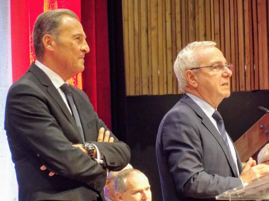 Le maire d'Antibes, Jean Leonetti, a remercié «un ami engagé, loyal et libre» en s'adressant à Lionnel Luca.