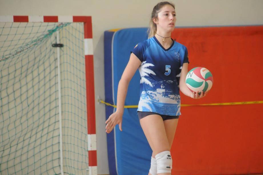 Anaïs Caullet satisfaite de la performance de son équipe.