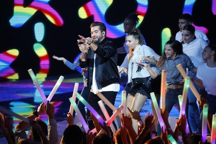 Kendji Girac sur scène lors de la dernière édition des NRJ Music Awards.