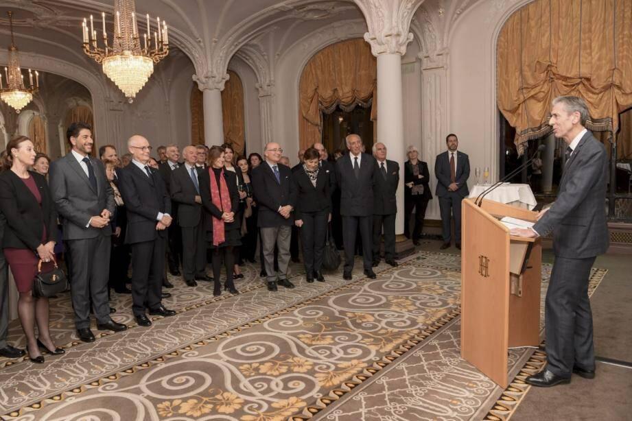 Gilles Tonelli a notamment évoqué les visites officielles du souverain effectuées en 2018, en Chine, au Cap-Vert et au Burkina-Faso.