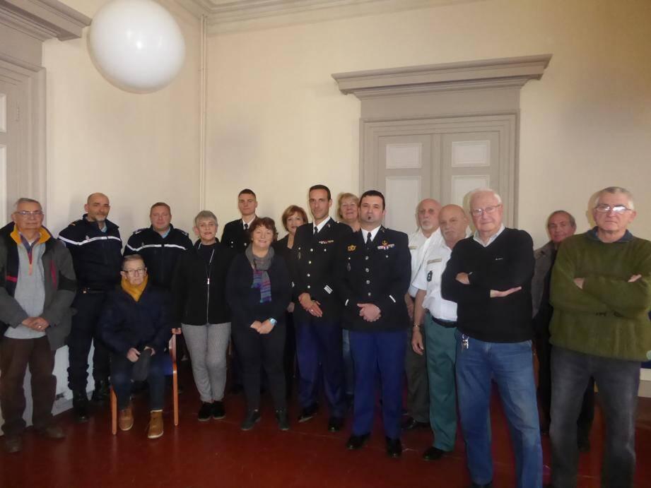 L'inspection annoncée de l'unité de gendarmerie de Collobrières, par le commandant de compagnie, Cédric Juste, a eu un caractère intime, vendredi dernier, en présence des élus.