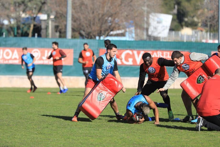 La bonne humeur a accompagné les Toulonnais hier au stade Berg.