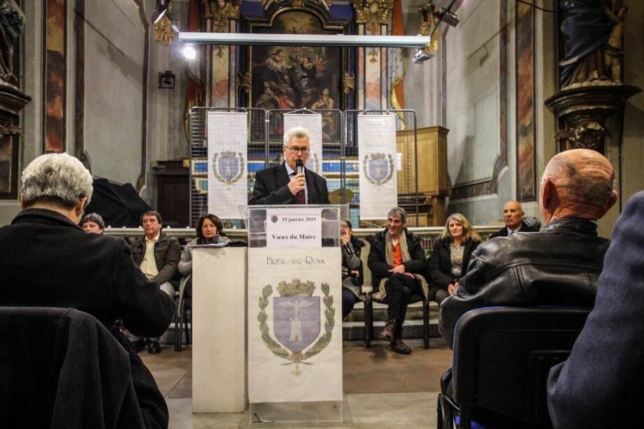 Le maire exprime ses vœux à la population.