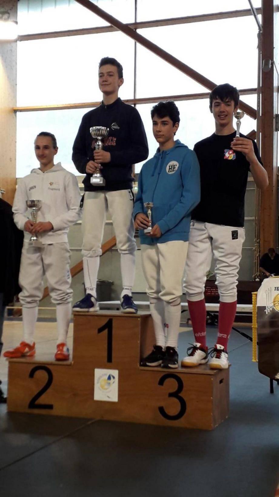 Le Grassois Adrien Bonhomme est monté sur la deuxième marche du podium.DR