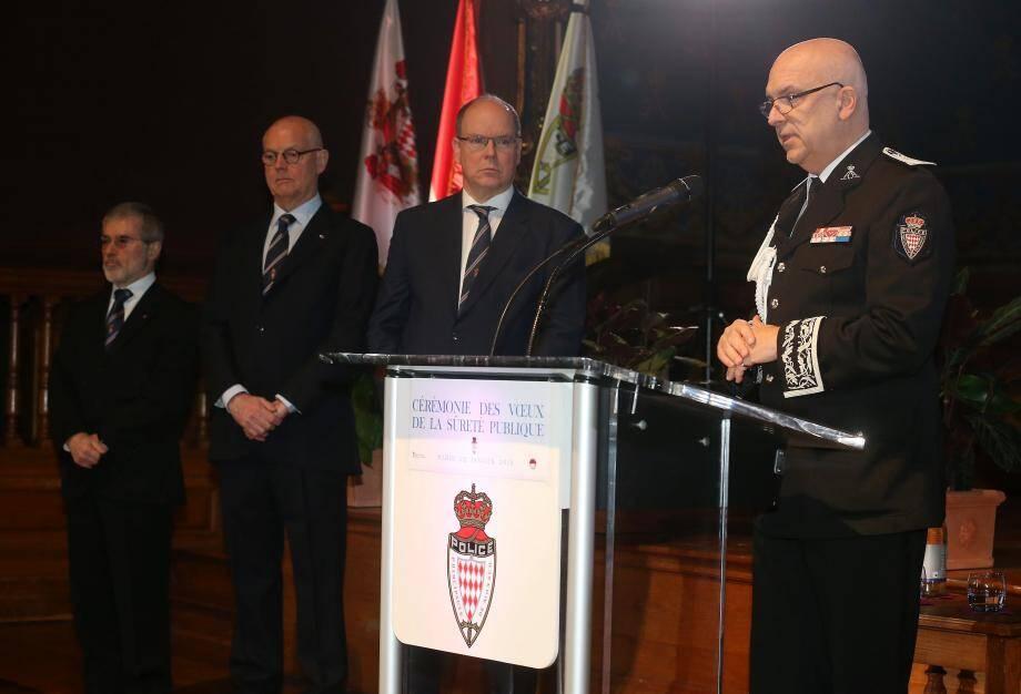 «Ce bilan est celui d'un corps loyal et dévoué», a confié Richard Marangoni au prince Albert II, au ministre d'État, Serge Telle, et au conseiller de gouvernement-ministre de l'Intérieur, Patrice Cellario.