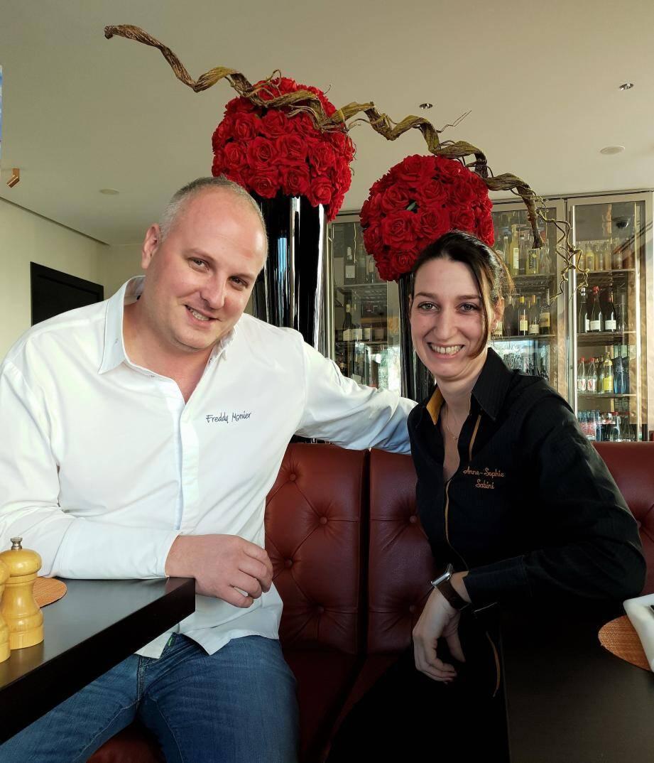 Freddy Monier (chef pâtissier de La Réserve) et Anne-Sophie Sabini (chef exécutif de La Table de La Réserve).