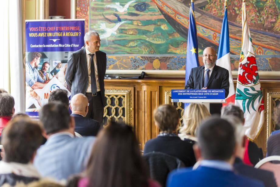 Pierre Pelouzet, médiateur des entreprises du ministère de l'Économie et des finances, a présenté, avec Philippe Pradal, ce nouveau dispositif.