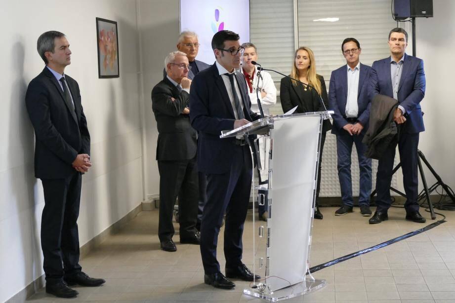 Hier midi,  Jérémie Sécher a présenté le groupe hospitalier Sophia Antipolis - Vallée du Var .