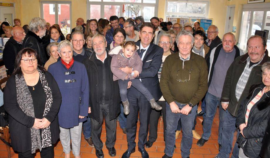 Lors de ces vœux dans la salle du relais de Valberg, le maire a annoncé la création d'un pôle santé.