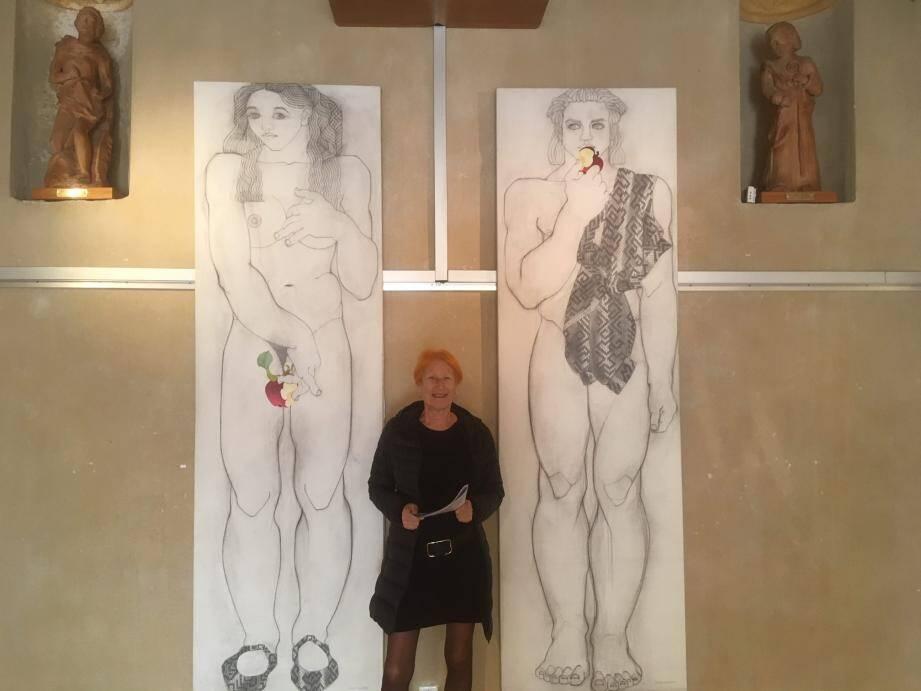 L'artiste privilégie les grands formats dans cette exposition à la chapelle Saint-Helme.