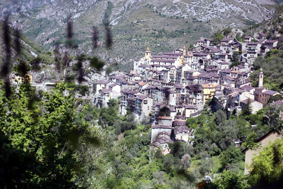 Vue sur le village de Saorge