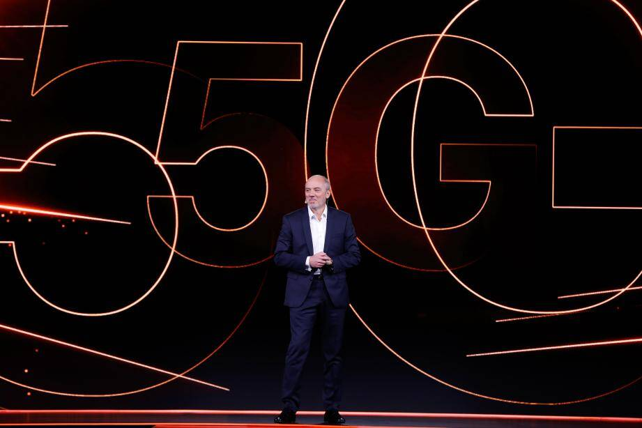 Stéphane Richard, PDG d'Orange a annoncé le déploiement de la 5G lors du Show Hello 2018, en décembre, à Paris.