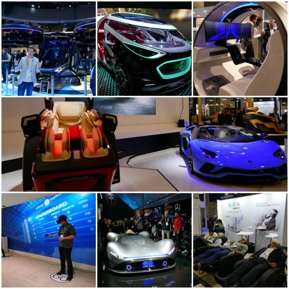 La réalité virtuelle augmentée, l'hélicoptère dernier cri de Bell Nexus ainsi que les véhicules électriques et autonomes des gros constructeurs automobiles ont attiré une grande part des visiteurs.